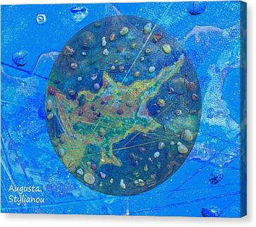 Cyprus Planetary Map Canvas Print by Augusta Stylianou