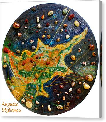 Cyprus Planets Canvas Print by Augusta Stylianou