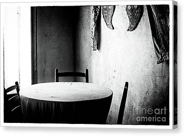 Cyprus Table Canvas Print by John Rizzuto