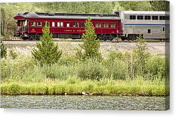 Cyrus K  Holliday Private Rail Car Canvas Print by James BO  Insogna