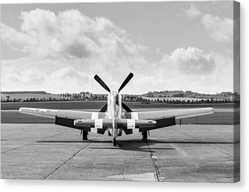 P-51 Mustang On Dispersal Canvas Print by Gary Eason
