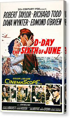 D-day The Sixth Of June, Us Poster Canvas Print by Everett