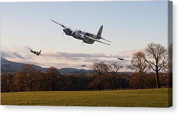 D H Mosquito - Intruder Ops Canvas Print by Pat Speirs