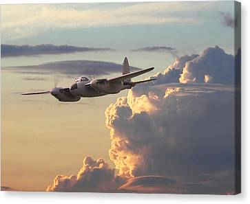 D  H Mosquito - Pathfinder Canvas Print by Pat Speirs