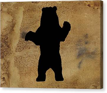 Da Bear Canvas Print by Celestial Images
