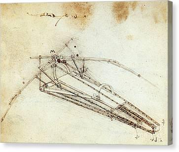 Da Vinci Flying Machine 1485 Canvas Print by Science Source