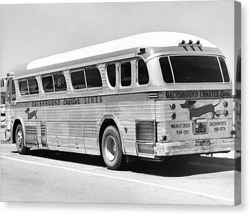 Dachshound Charter Bus Line Canvas Print by Underwood Archives