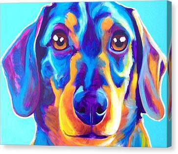 Dachshund - Oscar Canvas Print by Alicia VanNoy Call