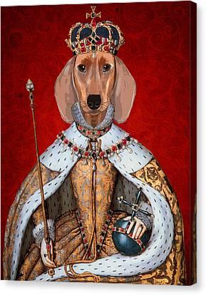 Dachshund Queen Canvas Print by Kelly McLaughlan