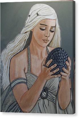 Daenerys Dragon Queen Canvas Print by Tammy Rekito