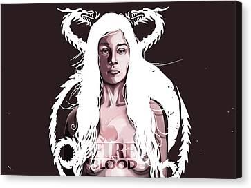 Daenerys Canvas Print by Jeremy Scott