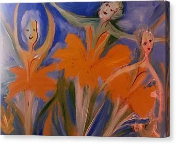 Daffodil Ballet Canvas Print by Judith Desrosiers