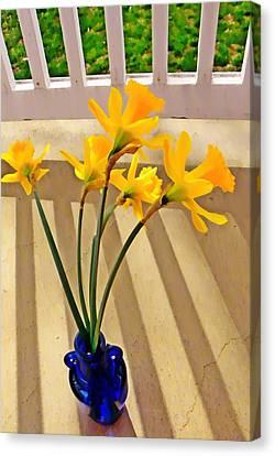 Daffodil Boquet Canvas Print by Chris Berry