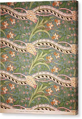 Daffodil Chintz Canvas Print by John Henry Dearle