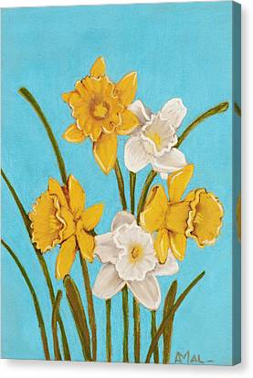 Daffodils Canvas Print by Anastasiya Malakhova