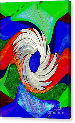 Daisy Bloom Digital Art Canvas Print by ImagesAsArt Photos And Graphics