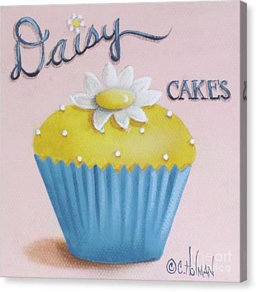 Daisy Cakes Canvas Print by Catherine Holman