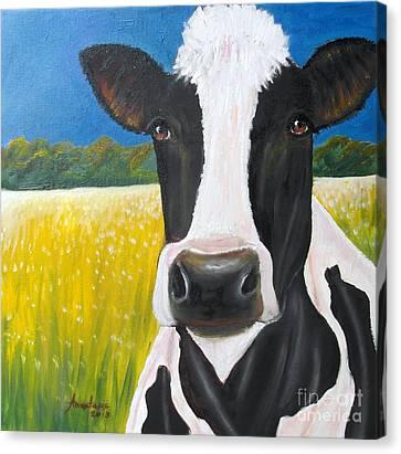 Daisy Cow Canvas Print by Anastasis  Anastasi