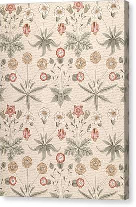 Daisy, First William Morris Design Canvas Print by William Morris
