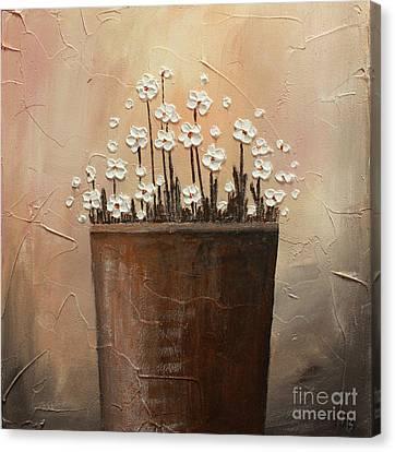 Daisy Pot Canvas Print by Home Art