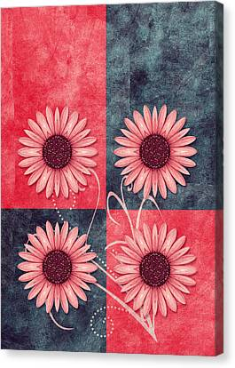 Daisy Quatro V13b Canvas Print by Variance Collections