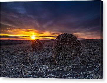 Dakota Sunset Canvas Print by Aaron J Groen