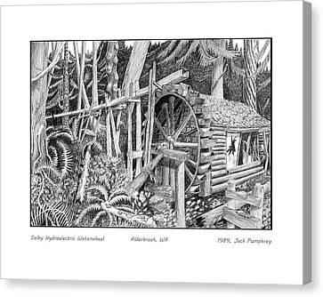 Dalby Waterwheel Hood Canal W A Canvas Print by Jack Pumphrey
