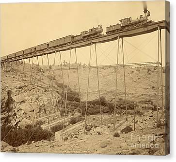Dale Creek Bridge Union Pacific Canvas Print by Getty Research Institute
