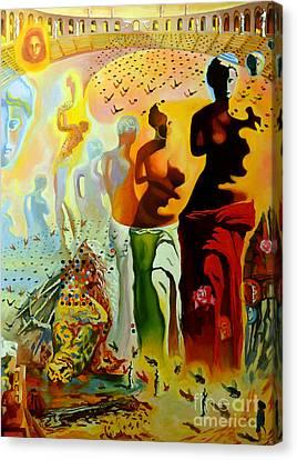 Dali Oil Painting Reproduction - The Hallucinogenic Toreador Canvas Print by Mona Edulesco