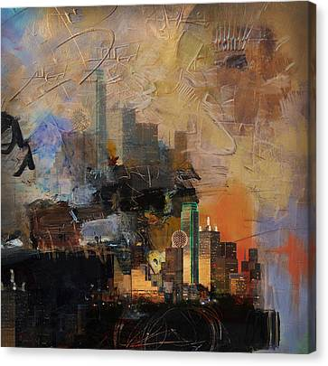Dallas Abstract 002 Canvas Print by Corporate Art Task Force