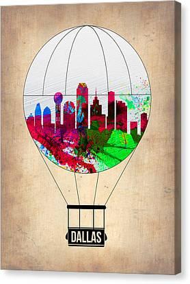 Dallas Air Balloon Canvas Print by Naxart Studio