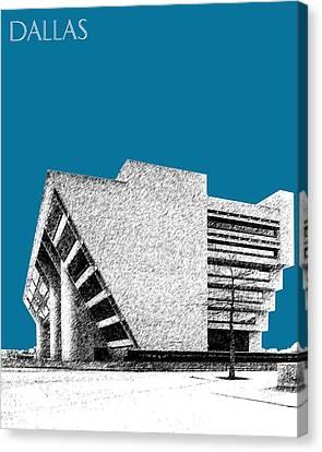Dallas Skyline City Hall - Steel Canvas Print by DB Artist