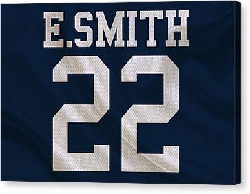 Dallas Cowboys Emmitt Smith Canvas Print by Joe Hamilton