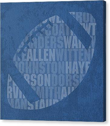 Dallas Cowboys Football Team Typography Famous Player Names On Canvas Canvas Print by Design Turnpike