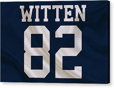 Dallas Cowboys Jason Witten Canvas Print by Joe Hamilton