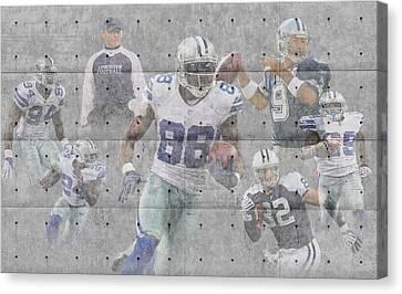 Dallas Cowboys Team Canvas Print by Joe Hamilton