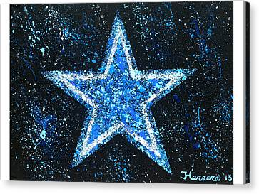 Dallas Cowboys Canvas Print by Tony Herrera