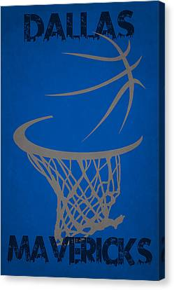 Dallas Mavericks Hoop Canvas Print by Joe Hamilton