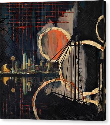 Dallas Skyline 002 Canvas Print by Corporate Art Task Force