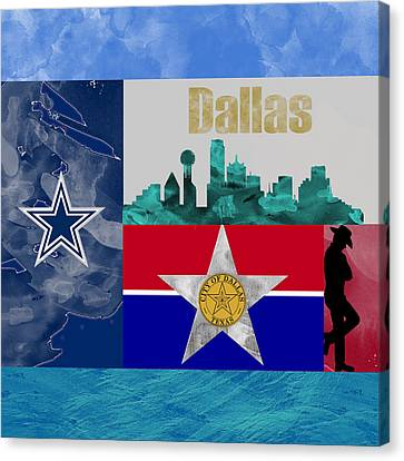 Dallas Skyline Canvas Print by Becca Buecher