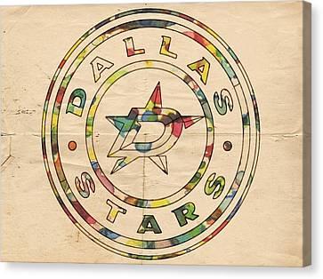 Dallas Stars Vintage Poster Canvas Print by Florian Rodarte
