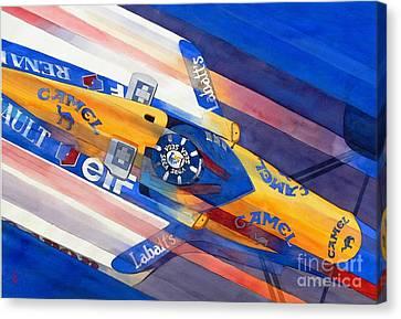 Damon Hill Canvas Print by Robert Hooper