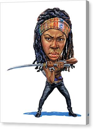 Danai Gurira As Michonne Canvas Print by Art