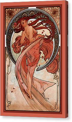 Dance Canvas Print by Alphonse Maria Mucha