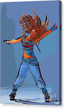 Dance Of Art 97 Canvas Print by College Town