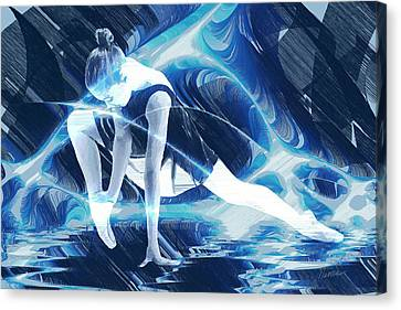 Dance Of Light Canvas Print by Marina Likholat