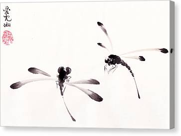 Dance Of The Dragonflies Canvas Print by Oiyee At Oystudio