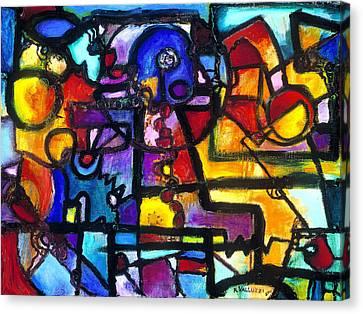 Dance Of The Gauge Bosons In Vacuum Canvas Print by Regina Valluzzi