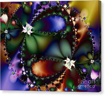 Dance Of The Gypsy Moths On A Moon Lit Night 20130510 Canvas Print by Wingsdomain Art and Photography