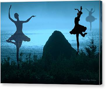 Dance Of The Sea Canvas Print by Joyce Dickens